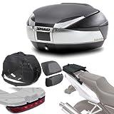 Sh48boreluhe99 - Kit fijacion y Maleta baul Trasero + Respaldo + Bolsa Interna + luz de Freno reg Compatible con Kawasaki z1000sx 2011-2016