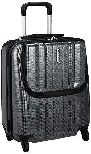 ワールド トラベラー World Traveler 【Amazon.co.jp限定】 ACEコラボ特別企画 スーツケース 46cm 32L 機内持込サイズ ストッパー付 TSAロック搭載(ブラックカーボン)