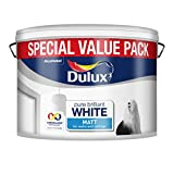 Dulux Matt Paint, 7 L - Pure Brilliant White