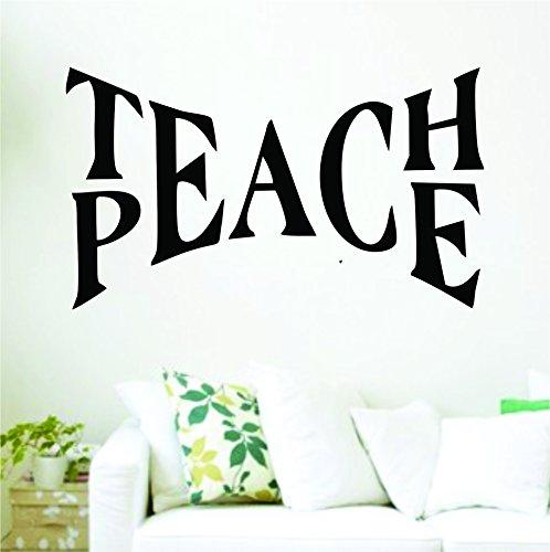 Dabbledown Decals Teach Peace Version 101 Inspirational Quote Decal Sticker Wall Boy Girl Teen Child