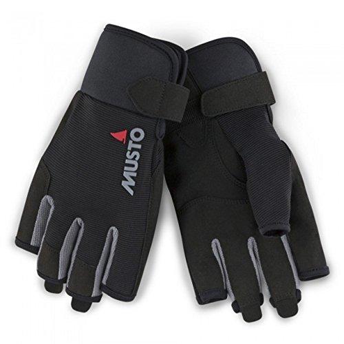 Musto Essential Short Finger Sailing Gloves - 2018 - Black L