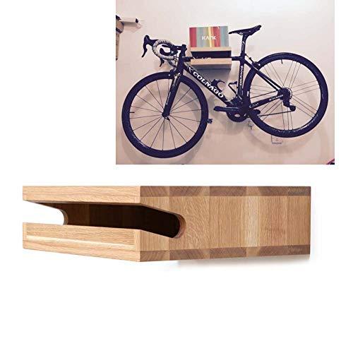 JXS Parete Design Bike Shelf Shelf - Legno Naturale Parete del Supporto della Bicicletta - per Lo...