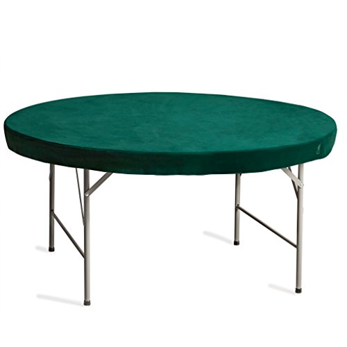 Yellow Mountain Imports Professional Grade Green Round Table Cover for Poker, Card Games, Mahjong, Board Games, Tile Games, and Dominoes - 49 Inches (124.5 Centimeters)