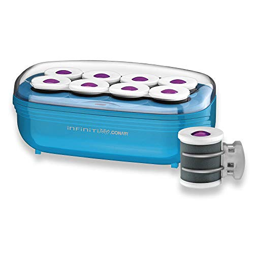 Conair Instant Heat Tourmaline Ceramic Flocked Hot Rollers, 2-inch Hot Roller Setter for Mega Volume and Smooth Waves