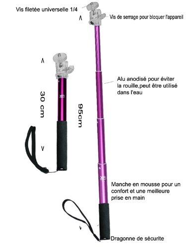 Big U-Shot Extendable 30cm - 95cm Camera Monopod Colour PINK