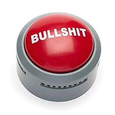 Giant red button makes a hilarious statement or two Perfect for calling out BS without having to say a word yourself The button will call it like you see it