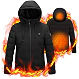 Heated Coat USB Electric Jacket Heating Vest for Motorcycle Riding Hunting No Power Bank