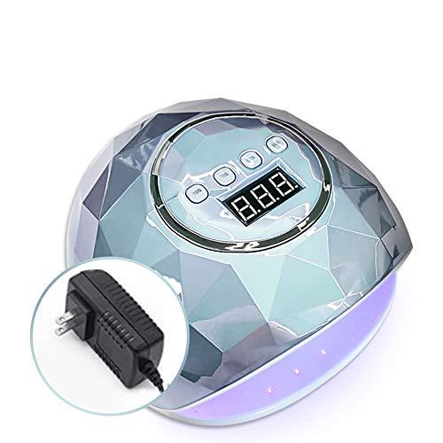 EKUPUZ Colorful Electroplating F6 Gel UV LED Nail Lamp Nail Dryer 110W Phototherapy Machine 39 Lamp Beads Sensor Lcd Display Professional 4 Kinds Of Timer Settings Nail Art Tools Accessories