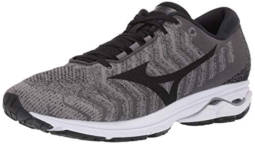 Mizuno Men's Wave Rider 23 WAVEKNIT Running Shoe, Quiet Shade - Black, 9.5 D