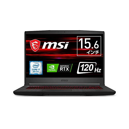 【ゲーミングノートPC】MSI GF65 Thin Win10 Core i7 RTX 2060 15.6FHD 120Hz 16GB SSD512GB GF65-9SEXR-258JP