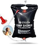 ZOESON Solaire Camp Douche Portable, 20L Chauffage Solaire Douche...