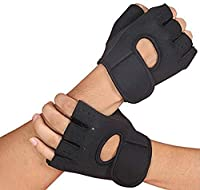 Neoprene is ideal for compression and heat retention, which aids blood circulation Adjustable wrist closure for a snug but comfortable fit and half-finger design ensures an easier removal Anti-slip palm design, can improve friction, make you easier t...
