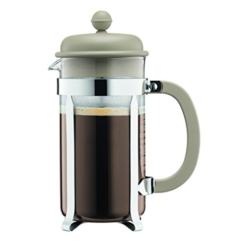 Bodum 1918-133B Caffettiera Coffee Maker, 8 Cup/1.0 L/34 oz, Sand