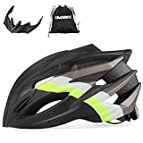 KINGBIKE Bike Helmet Bicycle Helmets for Men Women Mens Womens with Light for Road Mountain MTB with Carry Bag (Black)