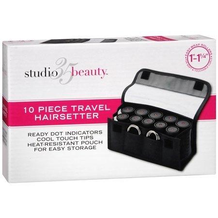 Studio 35 Beauty 10 Piece Travel Curlers 1'-1-1/4'
