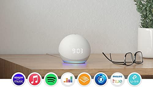 Echo Dot (4. Generation)   Smarter Lautsprecher mit Uhr und Alexa   Weiß