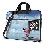 15.6″Durable Hombro Mensajero Bolsa maletín PC Tony Chopper de una Pieza Moda Impermeable Ordenador Portátil/portátil/Tablets