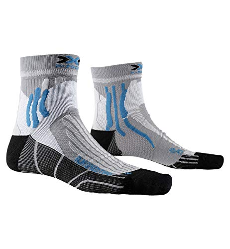 X-Socks Run Speed Two, Calzini da Corsa Unisex-Adulto, Pearl Grey/Opal Black, 45-47