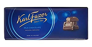 "Fazer ""Blue"" milk chocolate is made from fresh milk and high quality cocoa beans; has a unique, creamy, soft and rich taste Made in Finland; may contain traces of tree nuts, wheat Giving and receiving Fazer chocolate is a Finnish holiday tradition! E..."