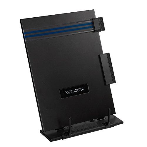 Copy Holder Easel - Tragbarer Dokumentenhalter-Leseständer - Verstellbar mit abnehmbarer Clip- und Linienführung, für Blätter im Letter-Format, 22,9x 31,8x 15,2cm