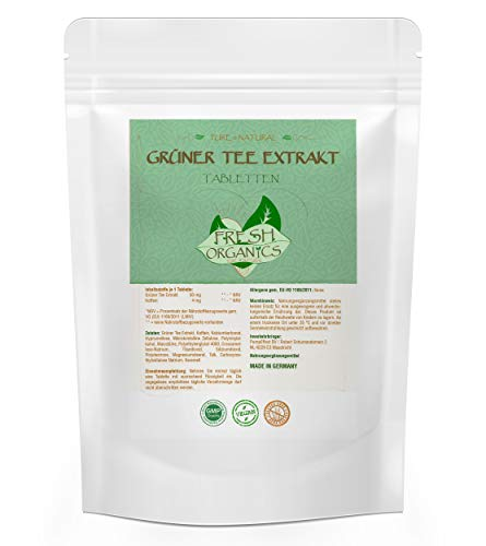 Green Tea 2000 | 500 Tabletten hochdosiertes Grüner Tee Extrakt | Reich an Antioxidantien | Vegan