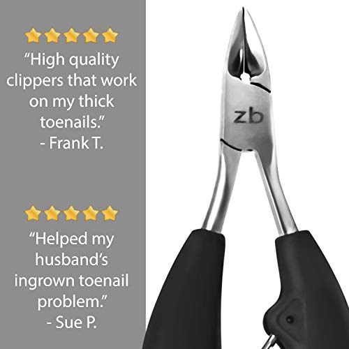Zizzili Basics Toenail Clippers for Thick or Ingrown Toenail - Large Handle for Easy Grip + Sharp Stainless Steel - Best… 6