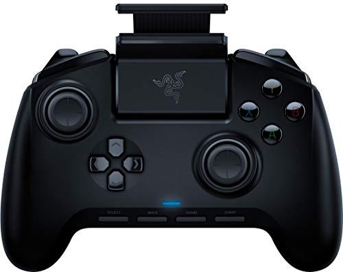 Razer Raiju Mobile Controlador de juegos para Android, diseño ergonómico, botones multifuncionales, modo de gatillo, soporte para teléfono inteligente ajustable, configuración para la aplicación móvil