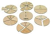 MontessoriPlus Bruchrechenkreise zum Bruchrechnen üben und Brüche be-greifbar darstellen