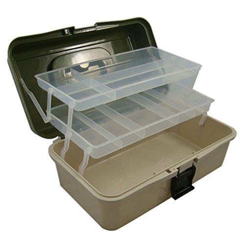 Box da Pesca  2 Ripiani scorrevoli componibili strutturati a Scomparti  Ideale per galleggianti, ami ed Esche