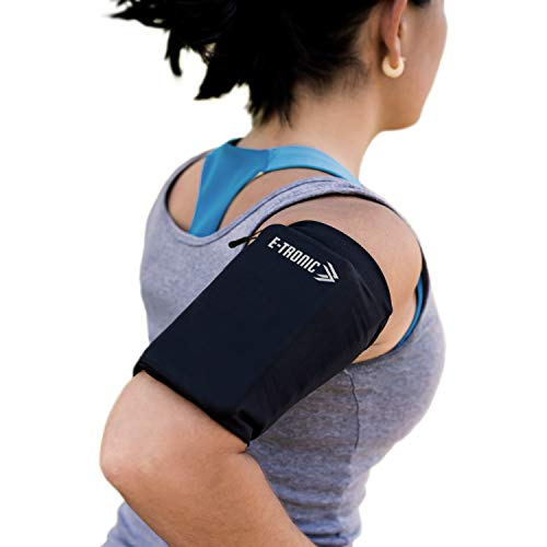 Phone Armband Sleeve Best Running Sports Arm Band Strap Holder Pouch Case (MED) Exercise Workout for Women Men Her Fits iPhone 6 7 8 X 11 Plus iPod Android Samsung Galaxy S8 S9 S10 Note 9 10