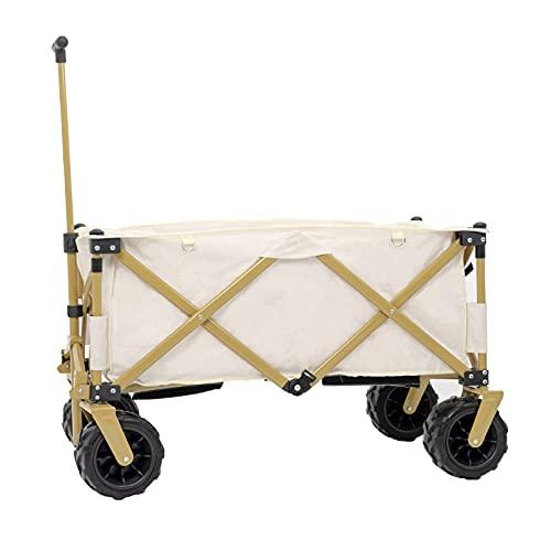 HUSTLE Folding Wagon Trolley Camping Cart Capacity Trailer...