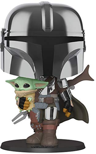 Funko- Pop Star Wars:Mandalorian-10 Mandalorian (w/Chrome Armour) Figura Coleccionable, Multicolor...