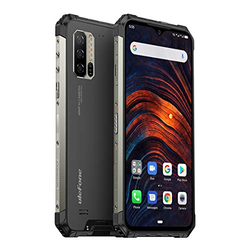 """Ulefone Armor 7 (2019) Rugged Smartphone Unlocked, IP68 Waterproof Cell Phones Helio P90 8GB + 128GB, 48MP + 16MP + 8MP Triple Camera, 5500mAh Battery QI Wireless Charge, 6.3"""" FHD+, Global Bands, NFC"""