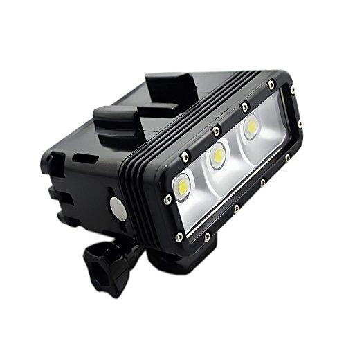 Doppia batteria Suptig ad alta potenza impermeabile video LED luce di riempimento luce notturna luce immersione per GoPro HERO5/5S/4/4S/3+/3/2SJCAM SJ4000/SJ5000/SJ6000/SJ7000Xiaoyi