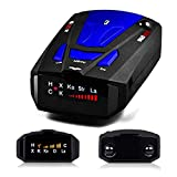 Radar Detector, City/Highway Mode 360 Degree Detection Radar Detectors with LED Display for Cars, Voice Alert and Car Speed Alarm System (FCC Approved)