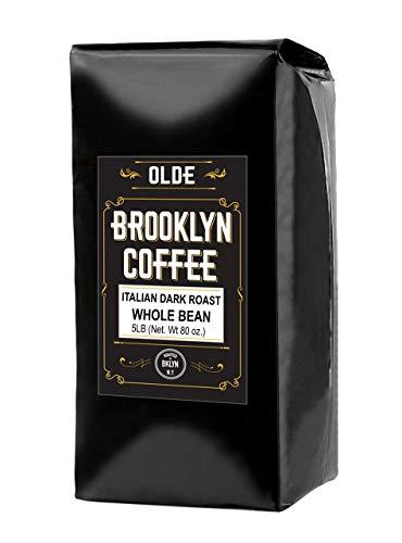 ITALIAN Dark Roast Whole bean  5 LB Extra Strong Coffee - The Worlds Strongest Coffee Beans | Classic Black Coffee, Breakfast, House Gourmet, Italian Espresso- Roasted in New York