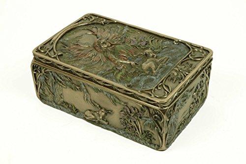 CAPRILO Joyero Rectangular Decorativo de Resina Hada de la Nieve. Cajas Multiusos. Joyeros.Regalos y Complementos. Figuras Resina. 16 x 10,5 x 6,5 cm.
