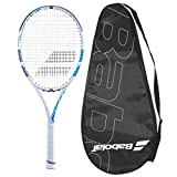 Babolat Boost D White Tennis Racquet - Strung with Cover (4-3/8)