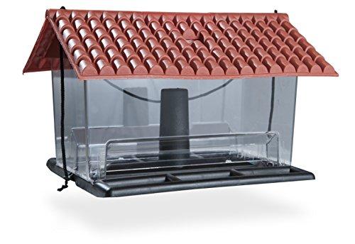 Windhager Vogelfuttersilo Ranch Vogelfutterhaus Futterhaus Vogelhäuschen Vogelhaus, aus Kunststoff, inklusive Aufhängeschnur, 06937