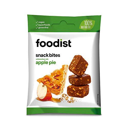 Foodist Snack Apple Pie mit Dattelbasis, Fruchtriegel ohne Zucker-Zusatz, glutenfrei, Mini Müsliriegel Bites im 10er Pack - Köstlich für zwischendurch und unterwegs (10 x 55g)