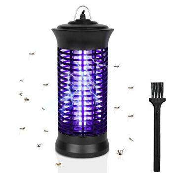 Guijiyi Lampe Anti-Moustique Électronique 6W Insecte Killer,UV LED Tue Mouches Destructeur D' Insectes Electrique,Electrique Anti Insectes Répulsif,Efficace Portée 30m²,pour L'intérieur