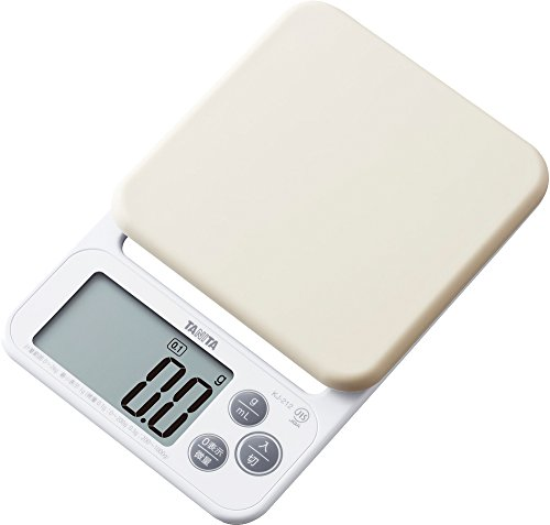 タニタ はかり スケール 料理 洗える 2kg 0.1g ホワイト KJ-212 WH