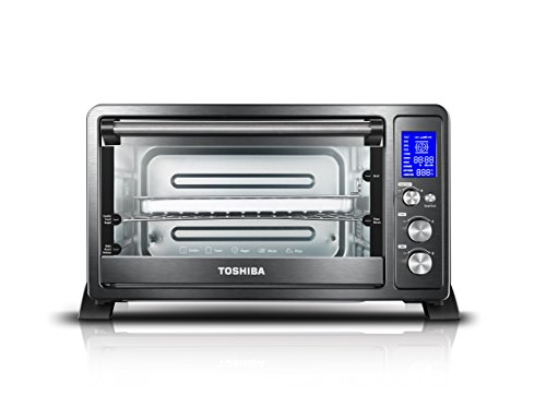 Toshiba AC25CEW-BS Digital Toaster Oven with...