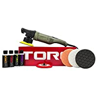 Kit includes polisher, two 5-inch backing plates, three 5.5-inch pads, two 4 oz. compounds and two 4 oz. polishes Digital display and speed control buttons for precise and intuitive control Internal components and machine configuration finely balance...