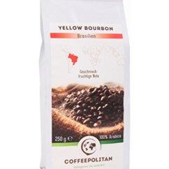 Coffeepolitan Yellow Bourbon - Röstkaffee aus Brasilien - ganze Bohne 250g