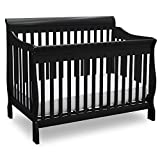 Delta Children Canton 4-in-1 Convertible Crib - Easy to Assemble, Black
