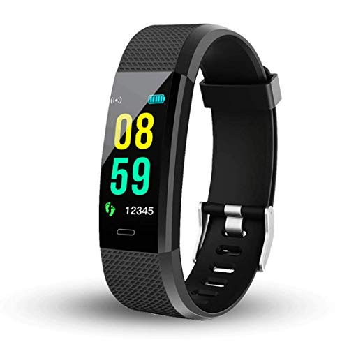 Sprinto DW23 ID115 Plus V5.0 Bluetooth Fitness Band Smart Watch Tracker with Heart Rate Sensor Activity Tracker Waterproof Body Functions Like Steps and Calorie Counter, Blood Pressure(Random Colour)