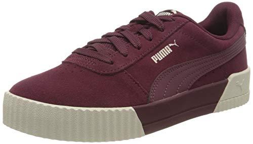 PUMA Carina, Sneaker Donna, Rosso (Burgundy-Burgundy-Whisper White), 39 EU