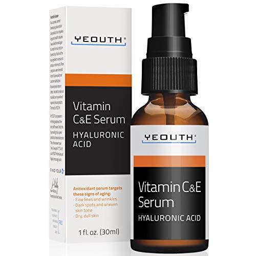 YEOUTH Suero Diurno de Vitamina C con Acido Hialurónico, Vi