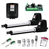 TOPENS AT602 Dual Gate Opener Medium Duty Automatic Gate Opener Kit for Dual Swing Gates Up to 18 Feet or 660 Pounds Gate Motor AC Powered